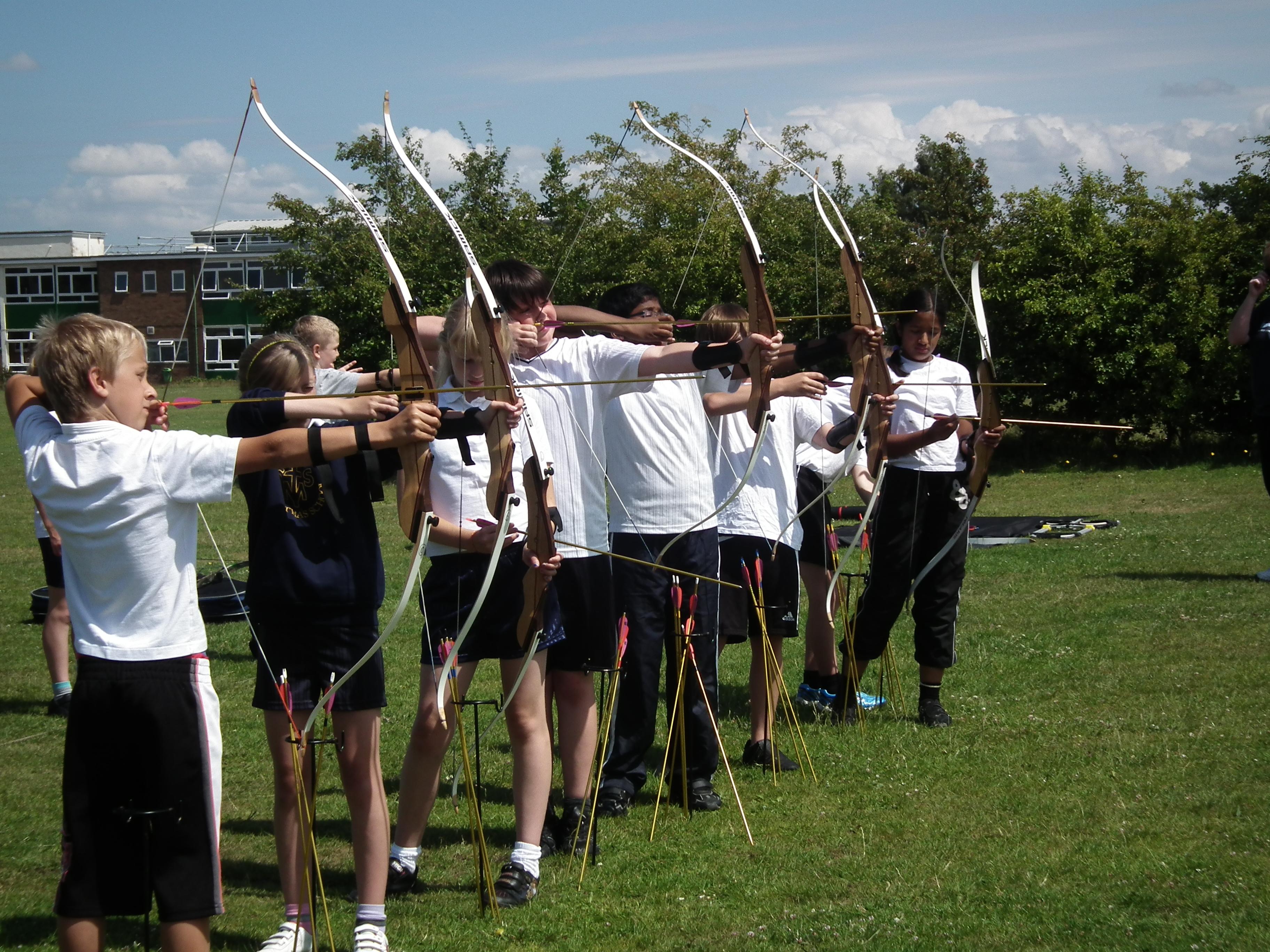Primary school archery