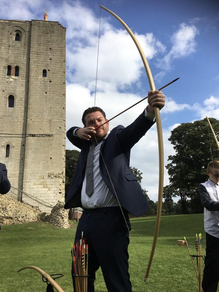 Hedingham Castle Longbow archery